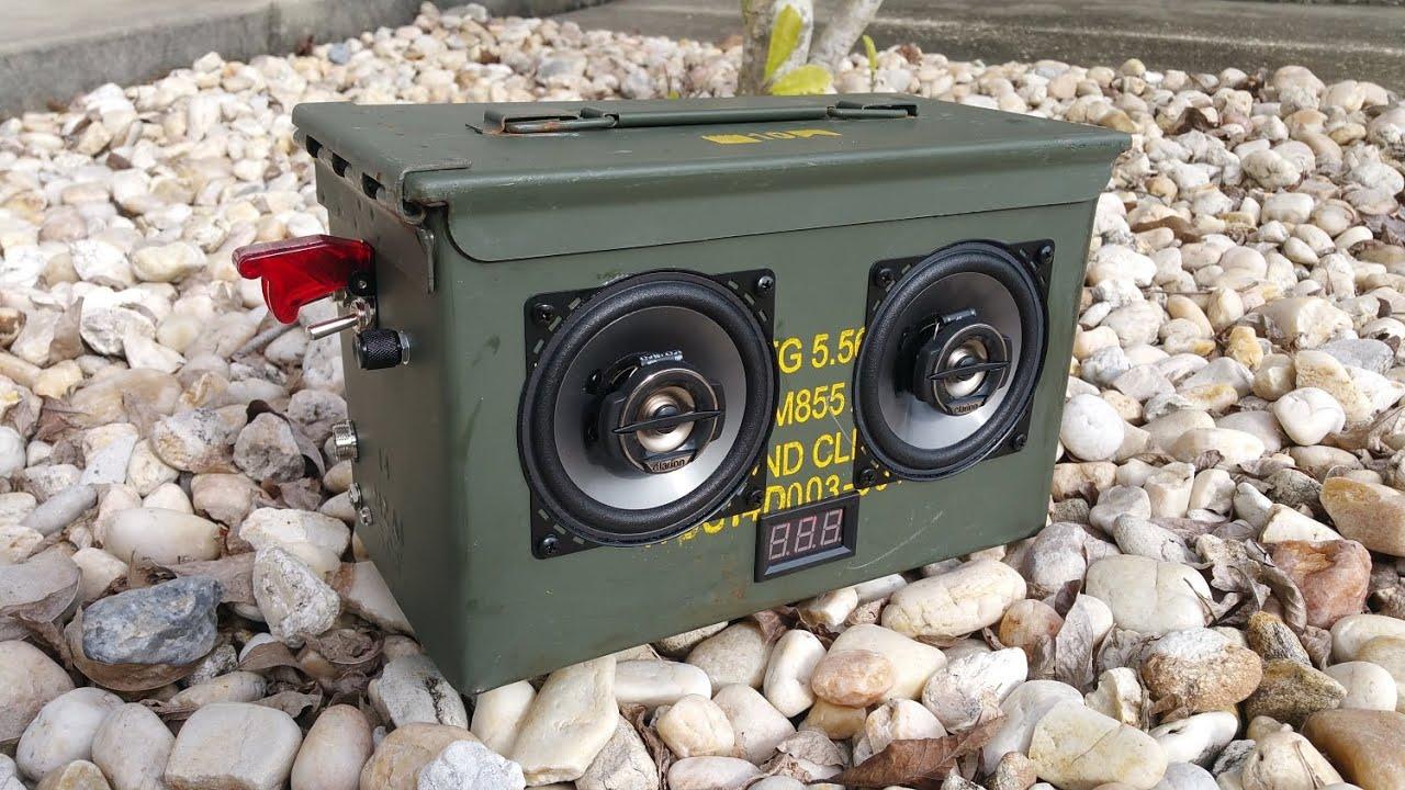 ammocan boombox 50 cal diy build pics and wiring diagram inside [ 1280 x 720 Pixel ]