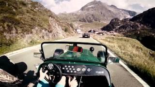 Caterham 485 on Sustenpass //pure roads  (Porsche Turbo, Cayman S and Nissan GT-R 2015)