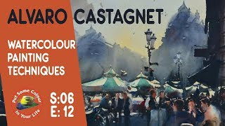 Alvaro Castagnet watercolour painting techniques and tutorial I Colour In Your Life