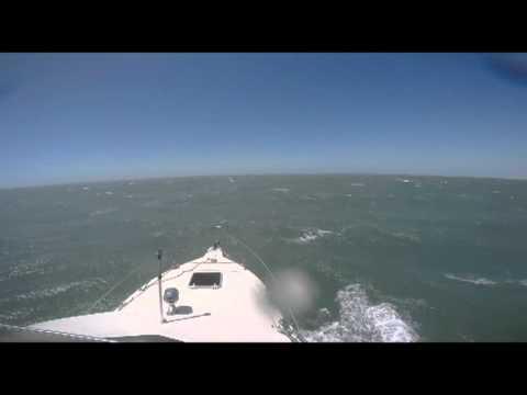 Boating Moreton Bay Searay Ex-tropical cyclone Man Overboard Feb 16