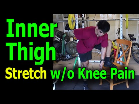 Inner thigh stretch without Inner Knee pain
