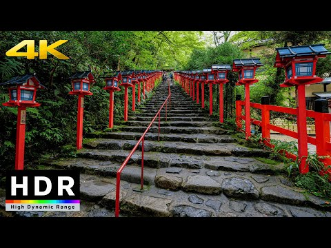 【4K HDR】Walk in Kyoto Kifune Shrine (京都散歩) - Summer 2020