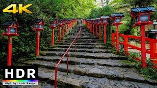 【4K HDR】Walk in Kyoto Kifune Shrine (京都散歩)  Summer 2020