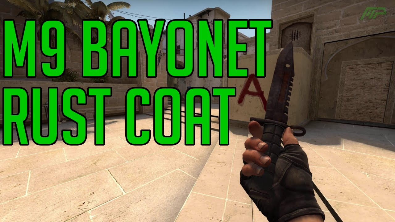 cs go skins m9 bayonet rust coat battle scarred animations youtube