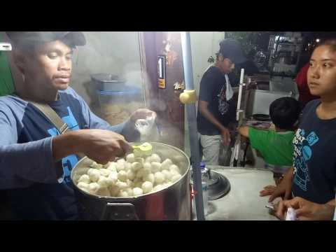 Indonesian Street Food - Traditional Snack Made From Tapioca - Cilok - Jakarta Culinary