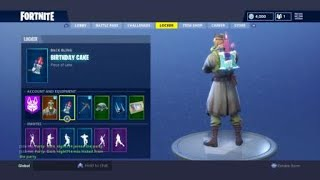 Fortnite Birthday BackBling! Sky Stalker Skin