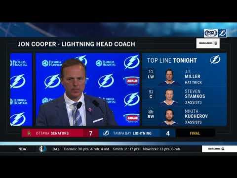 Jon Cooper -- Tampa Bay Lightning vs. Ottawa Senators 03/13/18