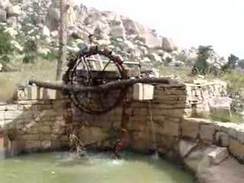 Persian Wheel Araghatta Traditional Water Lifting Device