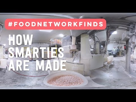 How Smarties Are Made: Exclusive 360° Candy Factory Tour | Food Network