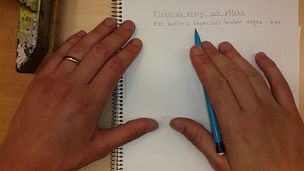 Fysik 1 Elektrisk energi och effekt