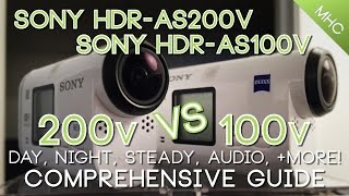 ULTIMATE Sony HDR-AS200V vs AS100V