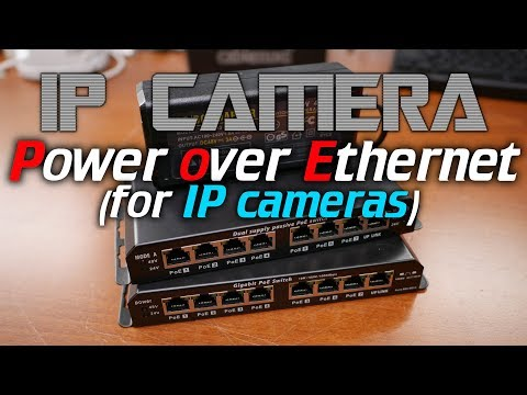 IPcam: Power over Ethernet (POE) for IP cameras