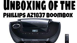 Unboxing of the Phillips AZ1837 Boombox (black)
