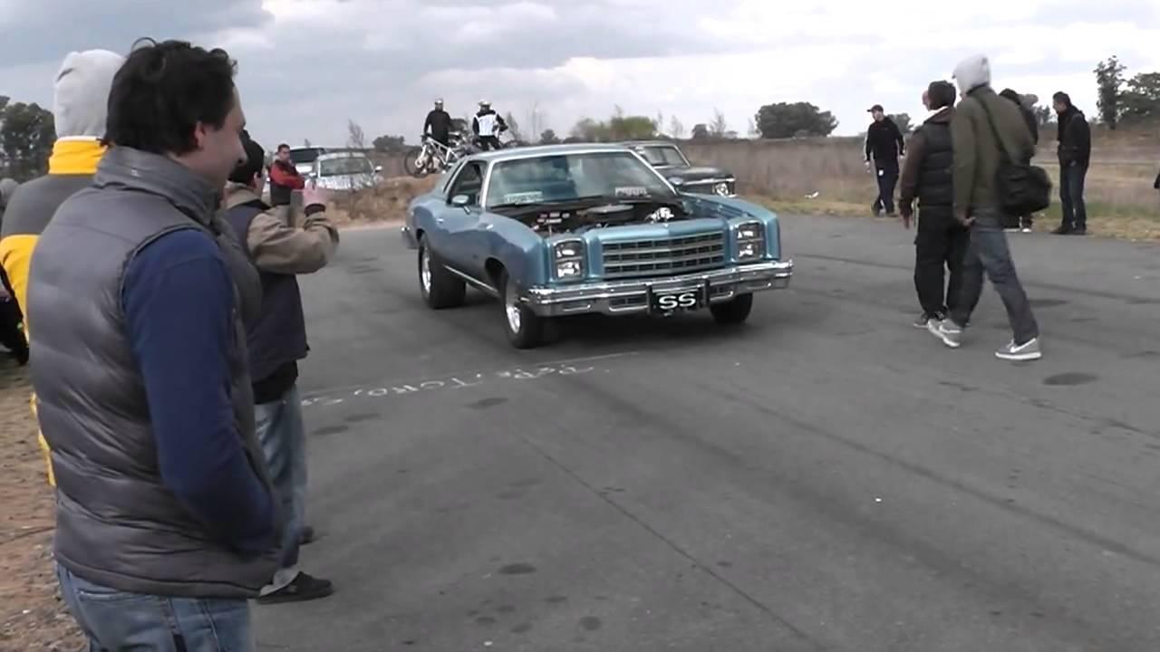 Chevy Monte Carlo 454 vs Chevy Nova 383  1/4 mile