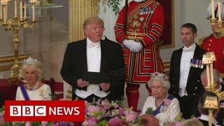 Trump toasts 'eternal friendship of our people' - BBC News