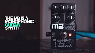 Subdecay M3 Guitar Synth pedal - demo by RJ Ronquillo