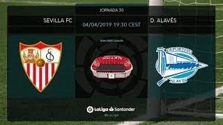 Calentamiento Sevilla FC vs D. Alavés