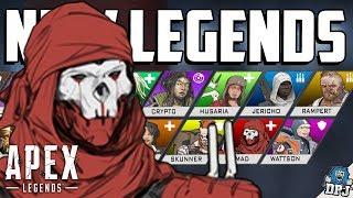 Apex Legends: ALL NEW LEGENDS / CHARACTERS - Season 1-4 NEW DETAILS / LEAK / PICS