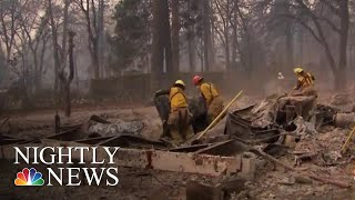 Search Crews Comb Through Ruins For Victims Of Northern California Wildfire | NBC Nightly News