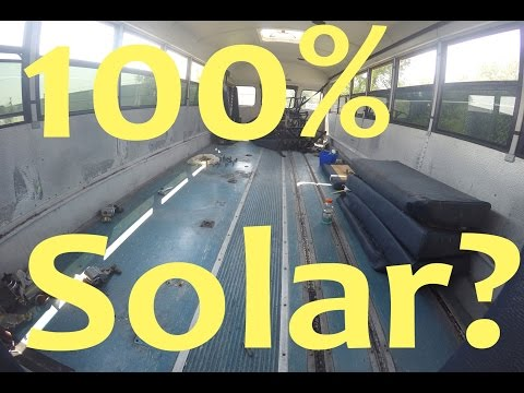 100% Solar Power School Bus Conversion