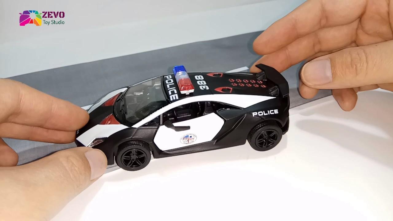 Car Toys For Kids Lambogini Sesto Elemento Police Super Car
