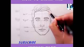 How to draw a face #-)