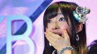 アイドルグループAKB48の「第5回選抜総選挙」で指原莉乃さん(2...