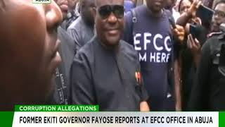 Fayose reports at EFCC Office in Abuja
