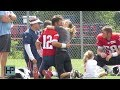 Download mp3 Gisele Surprises Tom Brady on His Birthday and Fans Sing During Patriots' Practice for free