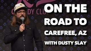 On the road to Carefree, AZ with Dusty Slay