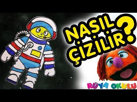 Astronot Nasil Cizilir Kozmonot Uzay Insani Cocuklar Icin