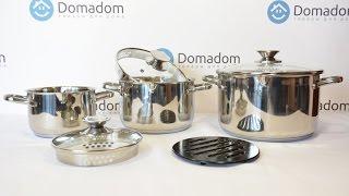 Набор кастрюль Moxie от ТМ Krauff(Стильный и максимально практичный набор посуды из 7 предметов: три кастрюли, три крышки и подставка под..., 2016-05-18T14:05:45.000Z)