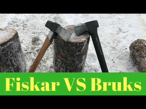 "Gransfors Bruks VS Fiskar X27  ""BATTLE OF THE AXES"""
