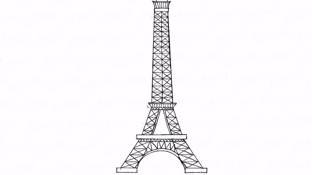 Рисунок эйфелева башня фото