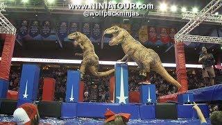 when watching a T-Rex vs. T-Rex Ninja Race at the Wolfpack Ninja Tour 2.0