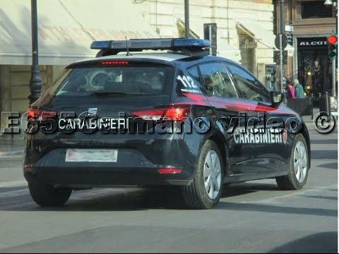 [HD-Sirena Carabinieri] 4x Carabinieri in Sirena-Azione: NUOVA Seat Leon+Alfa Romeo 159+2x Moto BMW!