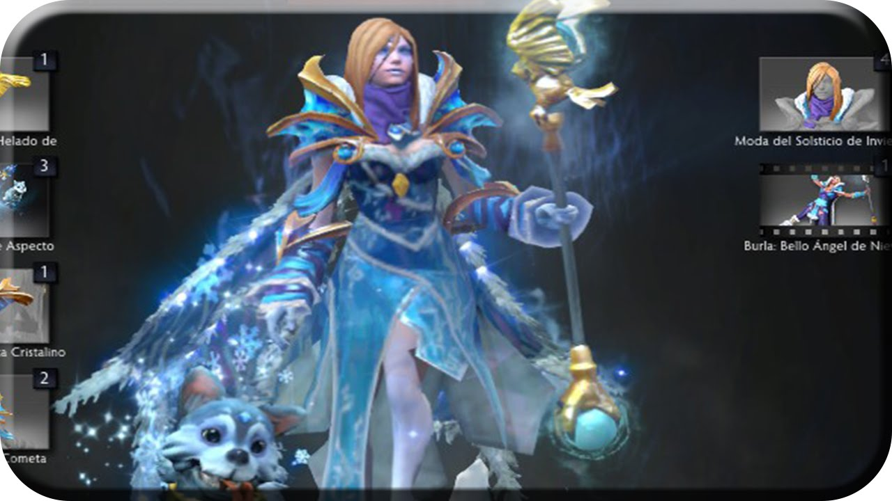 DOTA 2 Crystal Maiden Arcana Review YouTube