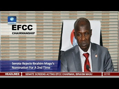 News@10 Senate Rejects Magu's Confirmation As EFCC Boss Again 15/03/17 Pt. 1