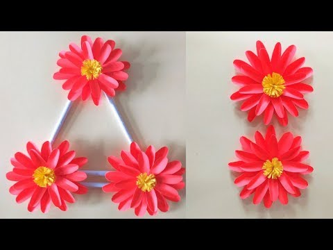 Diy paper flower wall hanging    Wall Decoration ideas 2019