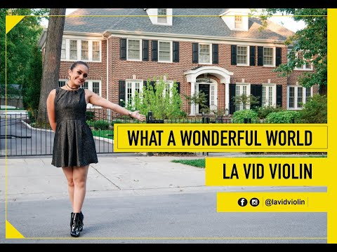 WHAT A WONDERFUL WORLD Cover By  LA VID VIOLIN (Louis Armstrong)
