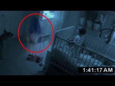 5 паранормальных явлений снятых на камеру  Страшное видео