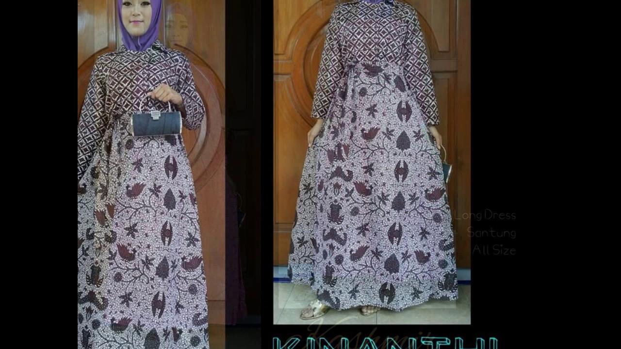 WA 0812 2533 6662, model gamis batik untuk nenek, model