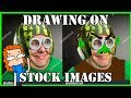DRAWING ON STOCK IMAGES