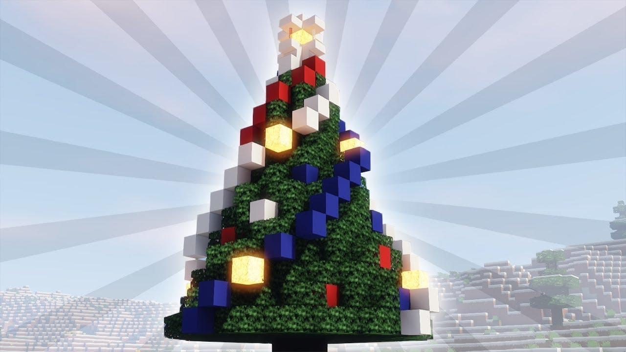 Tuto Minecraft | Comment Faire Un Joli Sapin De Noël !!!   YouTube