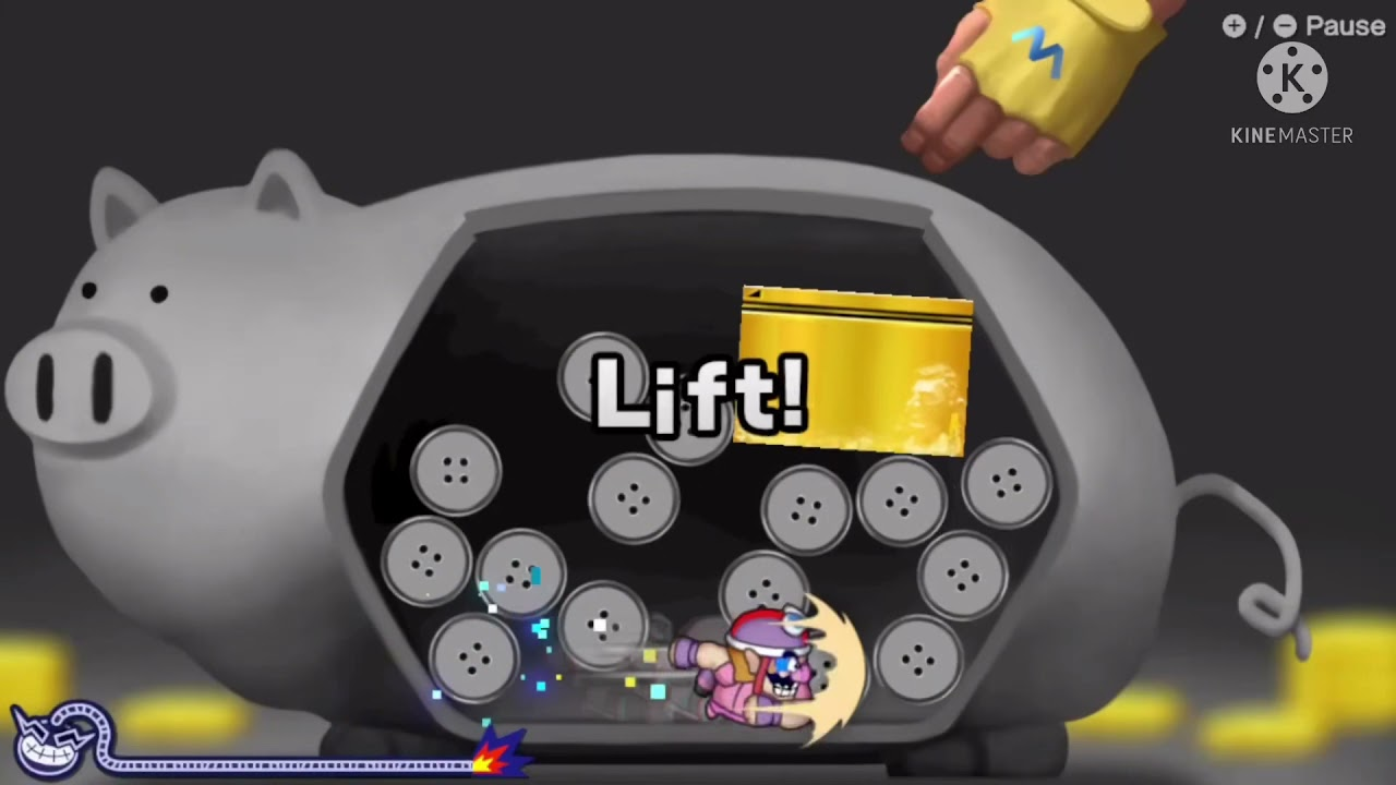 [Warioware: Get it Together!] How to beat Piggy Pluck with Wario and Penny!