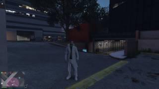 Grand Theft Auto V floating car