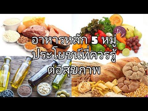 อาหารหลัก 5 หมู่ ประโยชน์ที่ควรรู้ต่อสุขภาพ