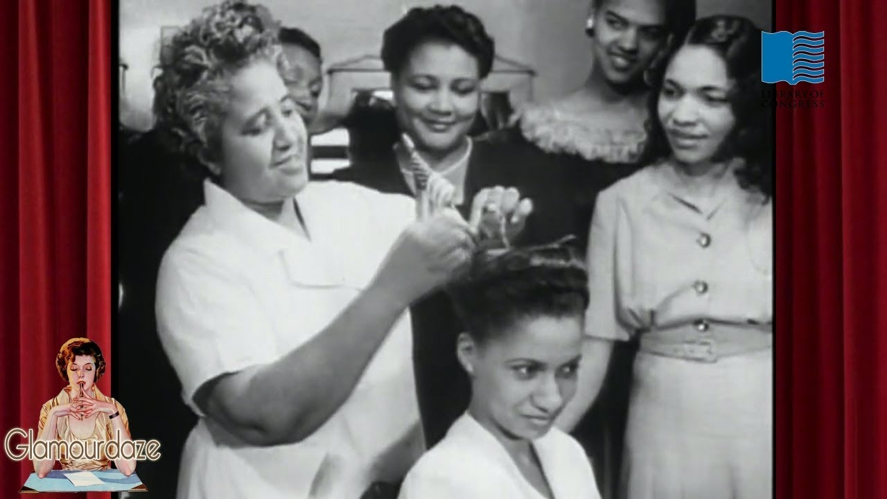 1940's Victory Roll Hairstyles for Black Women - 1945 Film