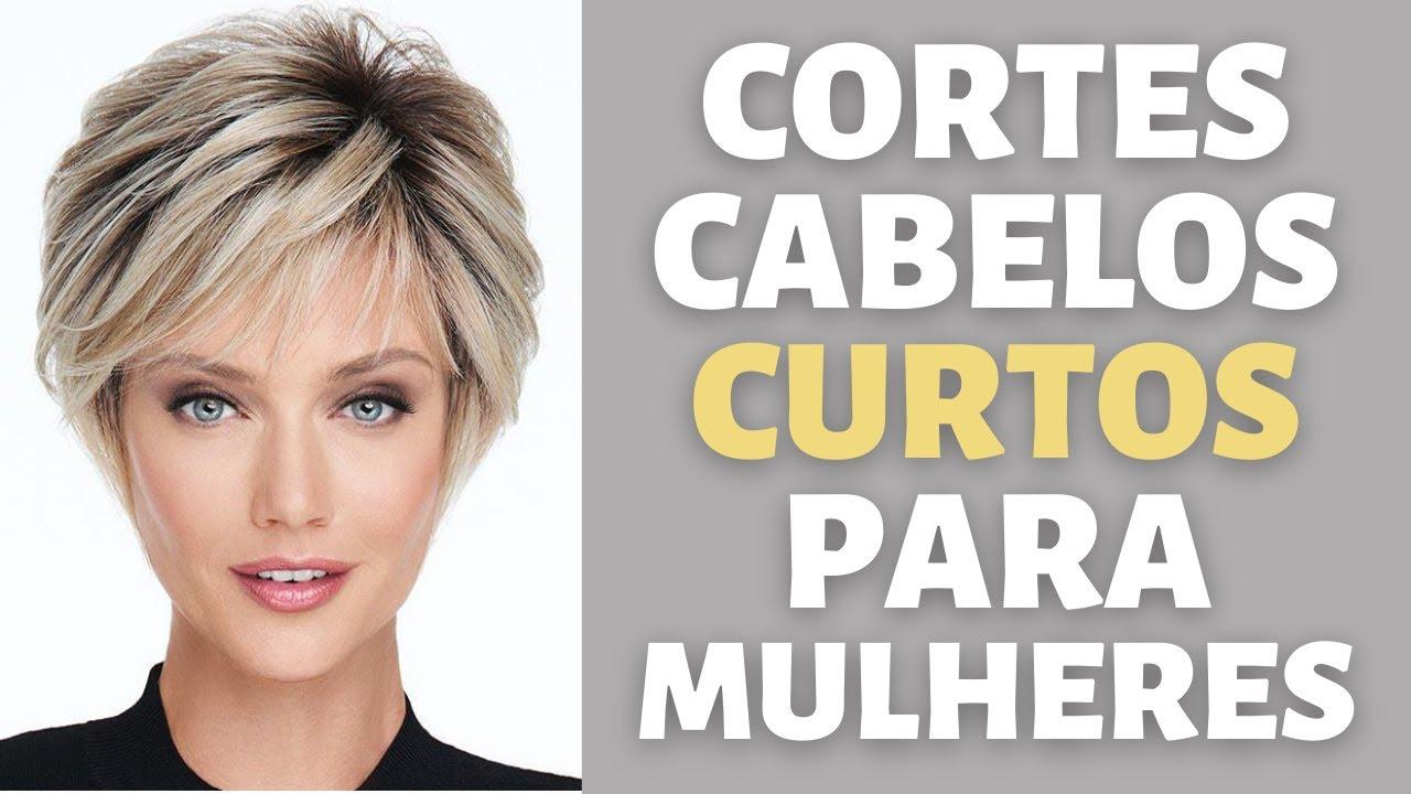 CORTES DE CABELOS CURTOS +45-55-85 MULHERES - CORTES CURTOS REPICADOS CAMADAS PENTEADOS - MODA MODA