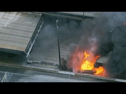 Fire causes Atlanta interstate to collapse